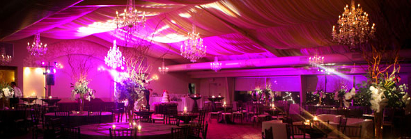 event venue washed with rich color during special events & Brooksville Uplighting | Spring Hill Wedding Dance Lighting azcodes.com
